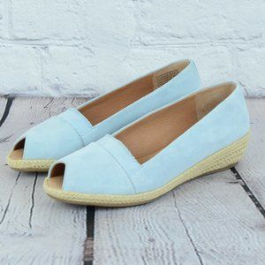 NEW! GENTLE SOULS Lissa Ruffle Espadrille Wedges